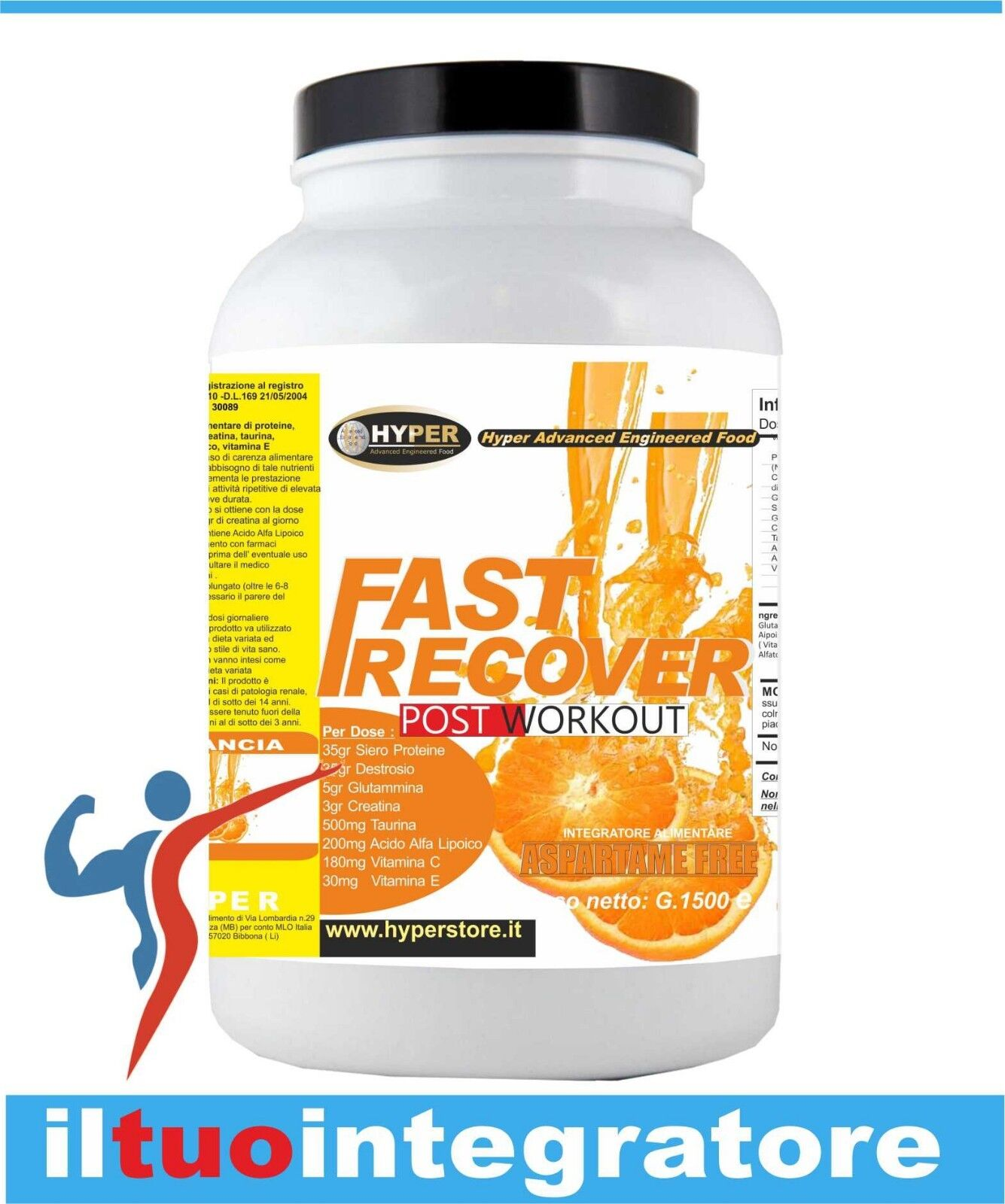 Recupero Muscolare Post Workout Integratori Ciclismo Prougeeine  Creatina  gr 3000