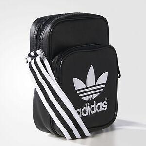 superior quality excellent quality shades of Details about Adidas Originals Mini Travel Flight Passport Body Shoulder  Messenger Bag Black