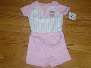 lowest price 58af4 9ccfb Details about Chicago Cubs MLB Shorts Jersey Shirt Set Baseball Pink White  Girls Infant Baby
