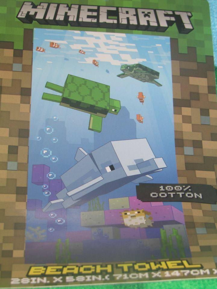Minecraft Sea Creatures Cotton Beach Towel 28