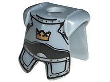 LEGO - Minifig, Armor Breastplate w/ Leg Protection, Crown Pattern - Pearl Gray