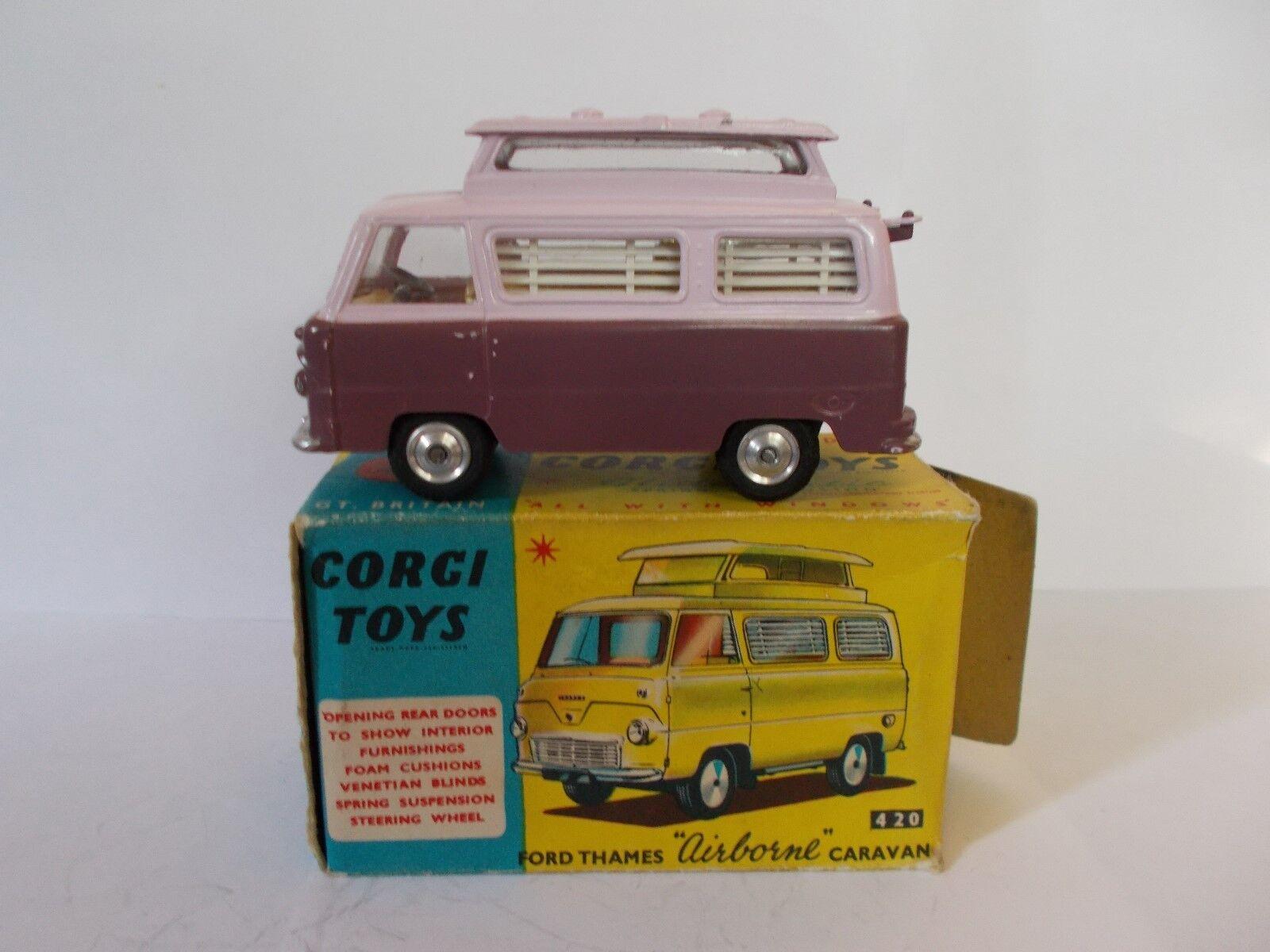 CORGI 420 Ford Thames Airbourne Caravan Vintage Coffret 1962