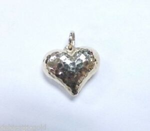 14k yellow gold hammered heart pendant 34 puffy heart ladies image is loading 14k yellow gold hammered heart pendant 3 4 aloadofball Gallery