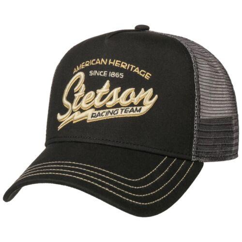 Stetson Baseball Racing Team Trucker Cap Adjustable Snapback Black