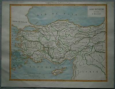 Map Of Asia Over Time.1863 Duvotenay Map Asia Minor In Time Of Heraclitus Ancient Greece