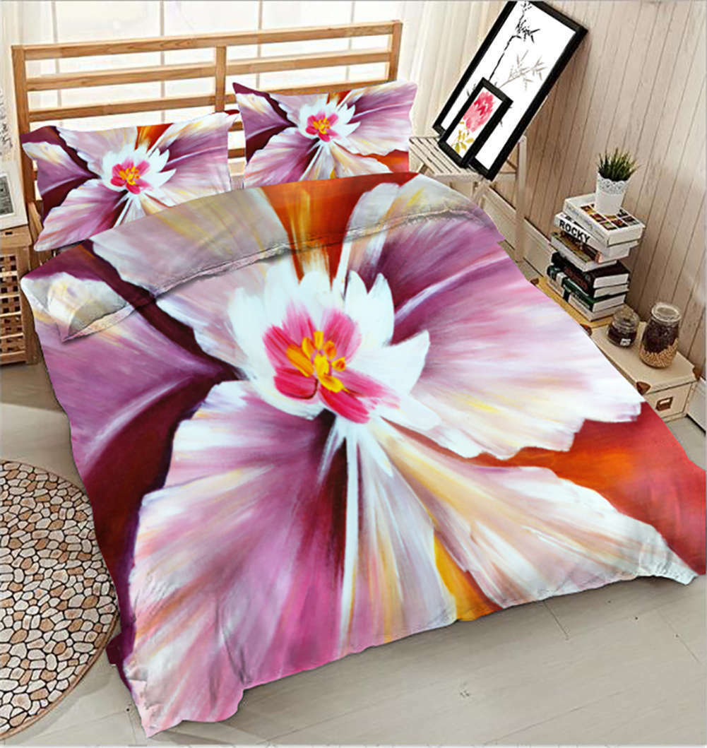 Blossoming Stamen 3D Printing Duvet Quilt Doona Covers Pillow Case Bedding Sets