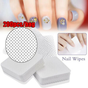 Lint-Free-Meltblown-Nail-Wipes-Cotton-Pads-Paper-SQUARES-x-200-50mm-x-50mm-Use