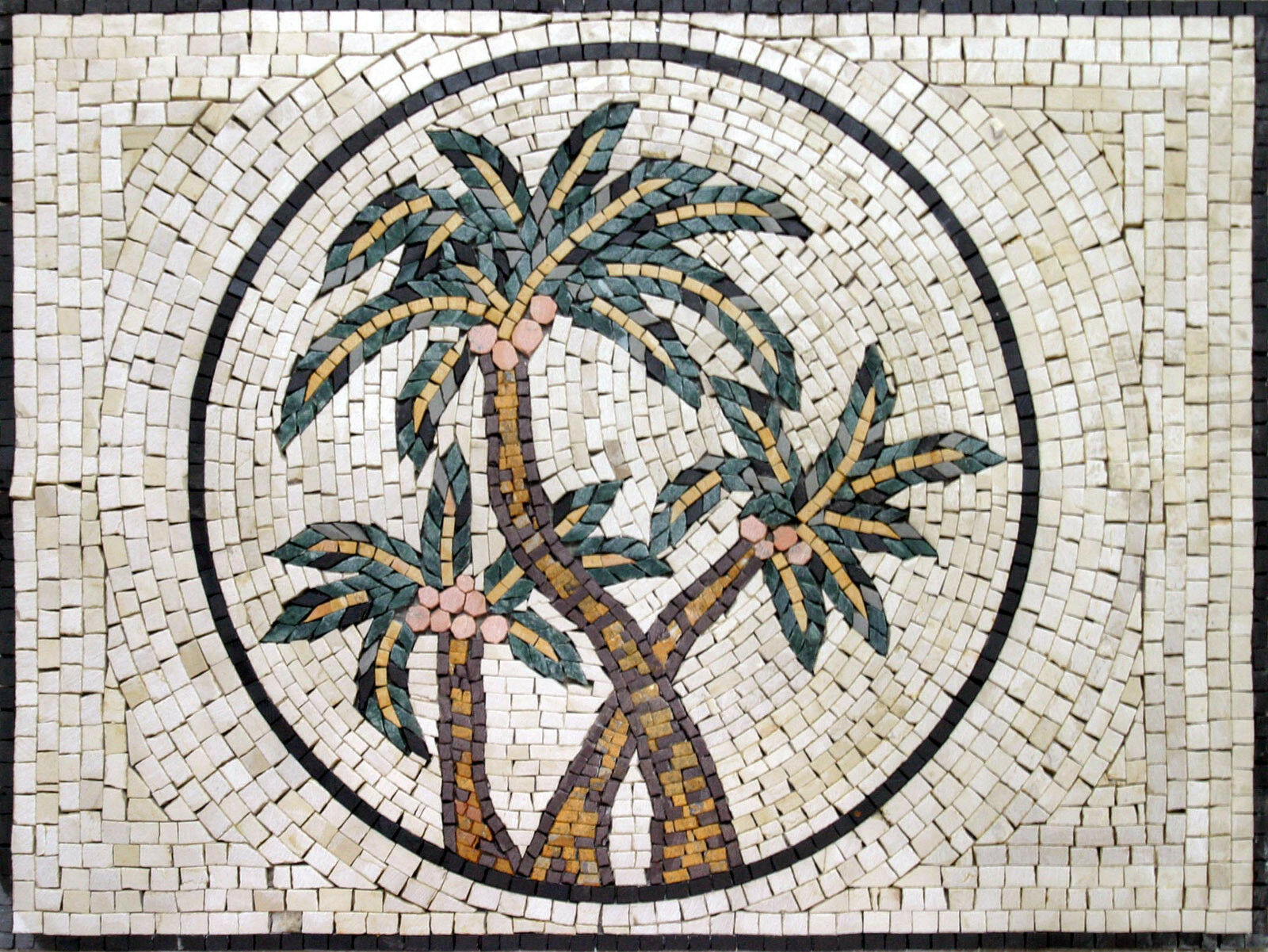 Palm Tree Yummy Dates Fruit Garden Design Home Marble Mosaic GEO1017
