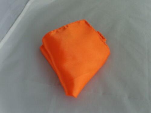 />Neon Orange BOYS Scrunchie Ruche Wedding Polyester Tie-Cravat /& Hankie Set 005