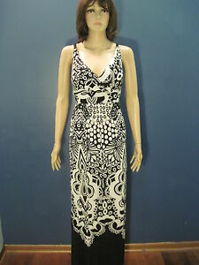 XL-black-and-white-retro-psychedelic-summer-sundress-by-NEW-DIRECTIONS