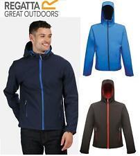 Regatta Mens Arley II Printable Softshell Jacket Hooded Full Zip Work