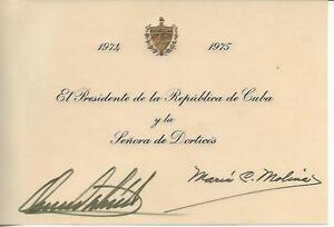 1974-PRESIDENT-OF-CUBA-Osvaldo-DORTICOS-Torrado-President-of-CUBA-AUTOGRAPH