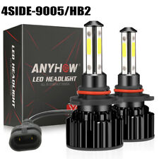 4 Side Cree Led Headlight Bulb Kit 9005 Hb3 2000w 300000lm 6500k High Beam White