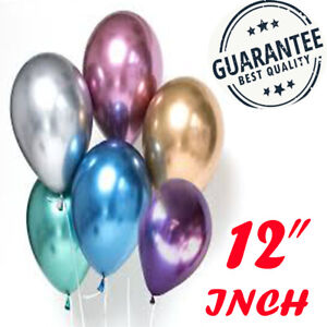 12-034-Metallic-Pearl-Chrome-Latex-Balloons-for-Wedding-Birthday-Party-10-30PCS-UK