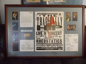 TRAGICALLY-HIP-BAND-GORD-DOWNIE-2-SIGNED-FRAMED-EXTRA-RARE-POSTER-amp-COLLAGE-1-1