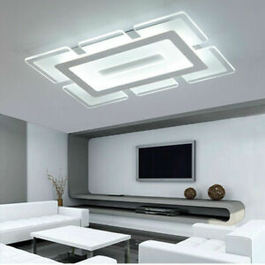 Modern-Rectangular-LED-Chandelier-Flush-Mount-Ceiling-Lamp-Acrylic-Dinning-Lamp