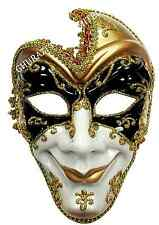 Evil Full Face Jester Masquerade Mask Christmas Adult Fancy Dress Accessory M432