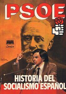 COMIC PSOE HISTORIA DEL SOCIALISMO ESPAÑOL MAM 1982 NUEVO