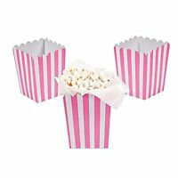 Paper Mini Candy Pink Striped Popcorn Boxes - 24 Pcs, New, Free Shipping on sale