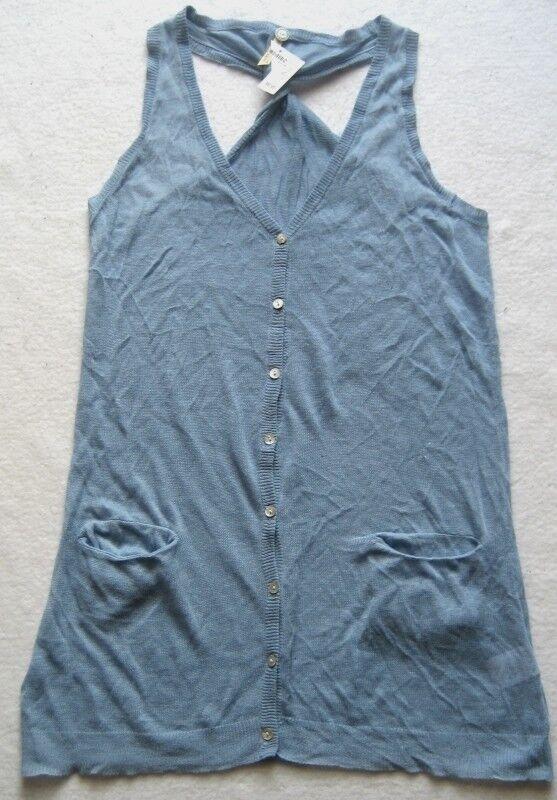 Sack& 039;s damentop veste en Blau Größe L tricot fin