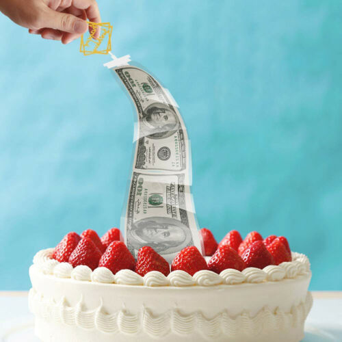 WO/_ Funny Cake Topper Surprise ATM Money Box Birthday Party Decor Prop Gift Nove