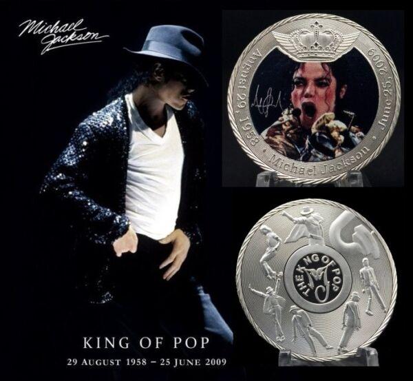 1 Pièce Plaquée Argent ( Silver Plated Coin ) - Michael Jackson ( Ref 6 )