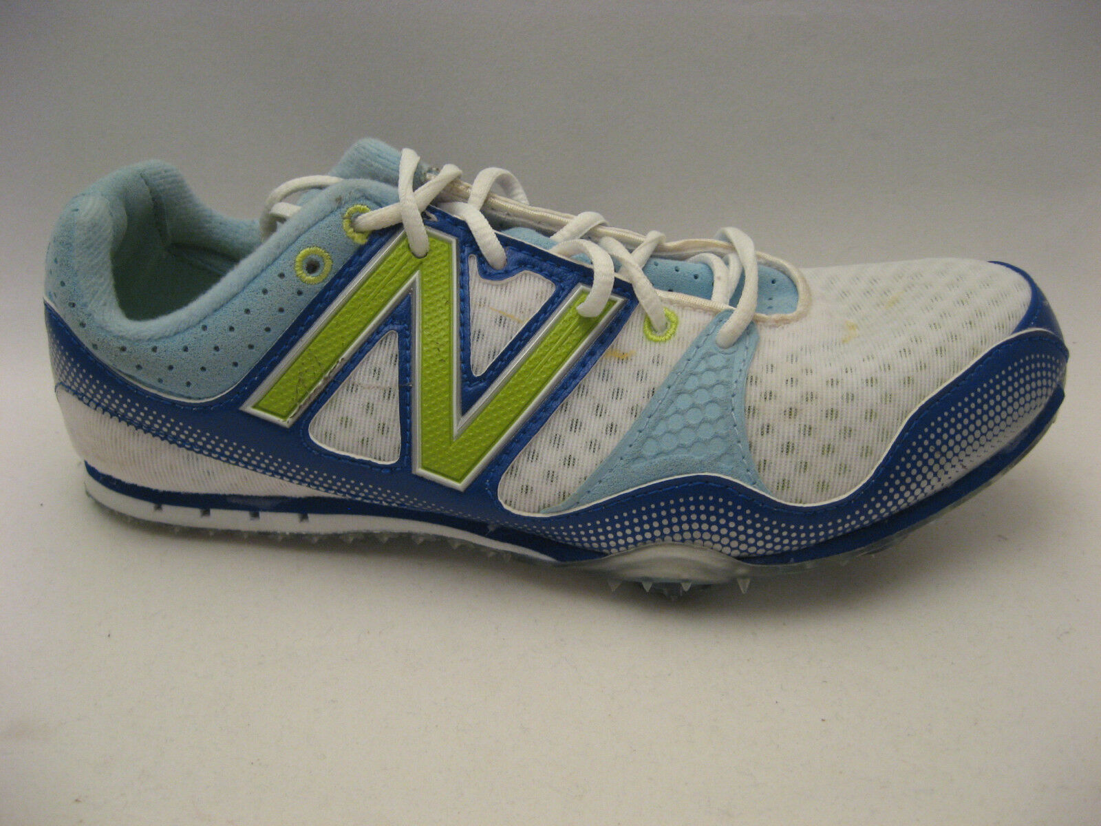 New Balance Womens WR500CB Track shoes 7 B White bluee Track & Field Spikes NEW