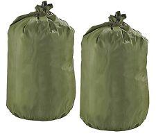 2 Genuine US Military Waterproof Clothing / Gear bags with string ties