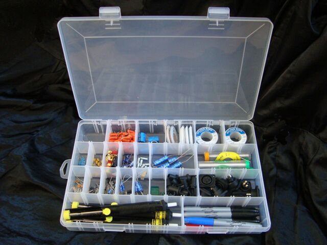 24 COMPARTMENTS UPGRADEABLE TO 46 PLASTIC STORAGE BOX 350x220x48mm