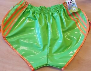 Red /& White Retro PVC Sprinter Shorts S to 4XL