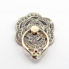 Strass Handy Schmuck Ring Halterung Metall Taschen Ständer Blumen Gold Schwarz