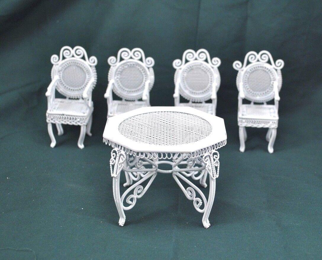 "Garden Table /& Chairs Set  dollhouse miniature furniture 1//12/"" scale AL007"