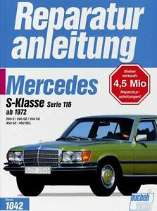 Mercedes-Benz-S-Klasse-W116-Reparaturanleitung-DEU-280-350-450-S-SE-SEL-Buch
