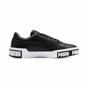 PUMA Women's Cali Bold Puma Black/Metallic Gold Sneakers 37081103 NEW