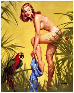 Retro Pin Up Gil Elvgren Tin Sign Wall Plaque