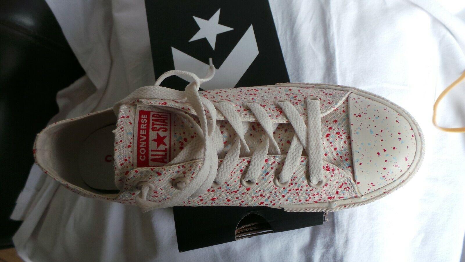 BRAND NEW in box Converse CT All Star Splatter Lo Ox trainer Größe 4 EU 37 Cream