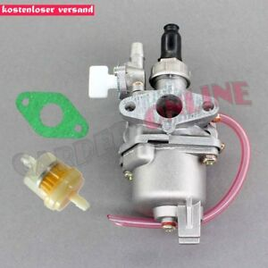 49cc-2-Takt-Vergaser-fuer-Pocketbike-Miniquad-Dirtbike-Quad-Benzinhahn-Pocket