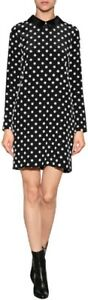 Victoria-Beckham-Silk-Black-amp-White-Polka-Dot-Shift-Dress-UK-8-US-4-F-36-I-40