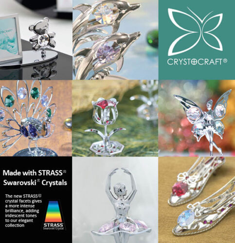 Crystocraft Collectable Crome Metal Figurines made with STRASS® Crystals