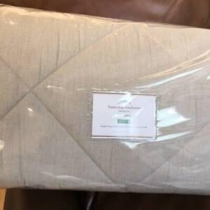 Pottery Barn Linen Silk Diamond Queen Comforter Amp 2 Euro