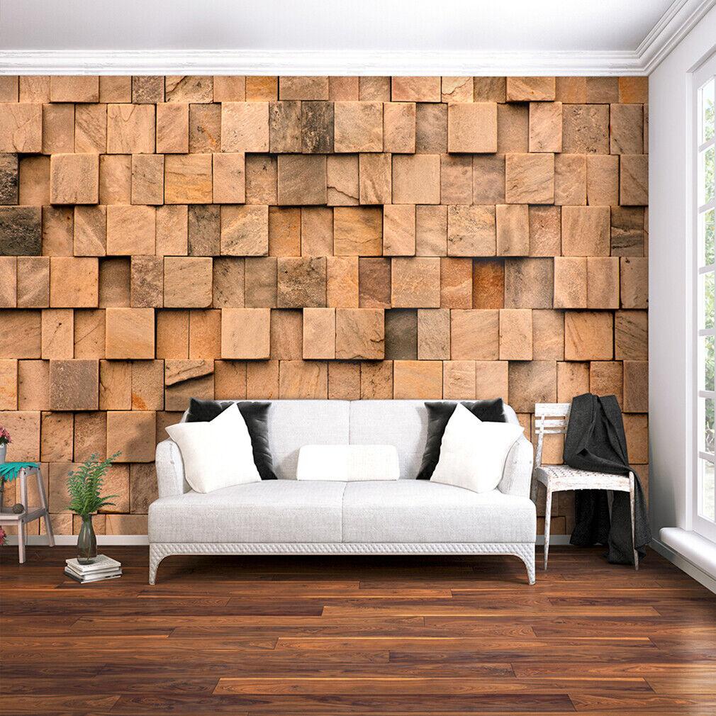 VLIES FOTOTAPETE Holz Holzwand braun TAPETE Wohnzimmer WANDBILDER XXL 3 Farbe