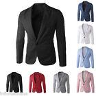 Mens Blazer Jacket Adults One Button Smart Slim Fit Blazers Suit Coat Outerwear