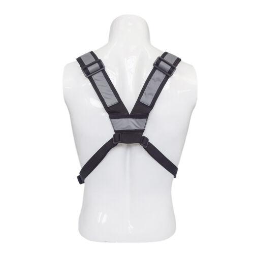 Nylon Hip Hop Glitter Vest Streetwear Functional Tactical Harness Rig Chest Bag