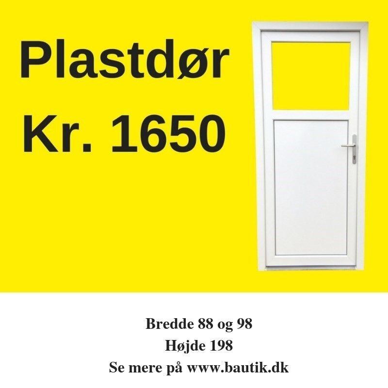 Terrassedør, plast, b: 80 h: 190