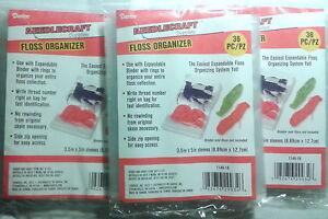 FLOSS-ORGANIZER-BAGS-Cross-Stitch-Embroidery-108-pc-Needlework-Thread