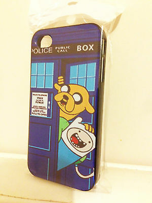 ADVENTURE TIME FINN JAKE DOCTOR WHO TARDIS PRINT CASE COVER IPHONE *NEW* SALE!