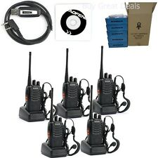 Walkie Talkies With Headsets Two Way Radio 5 Pack Long Range Handheld Security