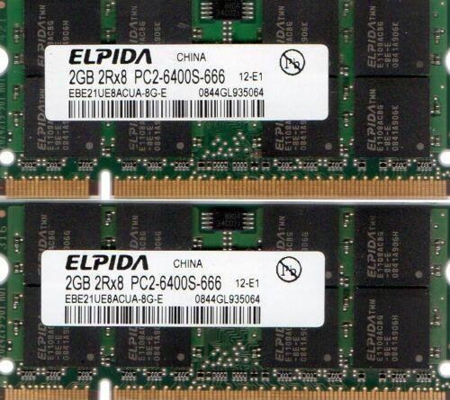 2x 2GB Kit New 4GB Acer Aspire DDR2 Laptop//Notebook RAM Memory