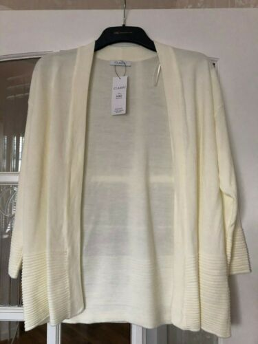 14 /& 16 Lovely BNWT M/&S Classic Staysoft cream open front cardigan