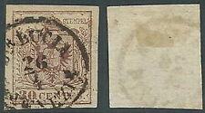 1850 LOMBARDO VENETO USATO STEMMA 30 CENT II TIPO - A122-2